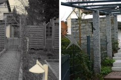 Vorher und Nachher eines Eingangsbereich