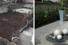 Vorher und Nachher einer kleinen Terrasse