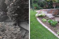 Erneuerung Gartentreppe